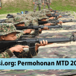 Permohonan Maktab Tentera Diraja MTD,