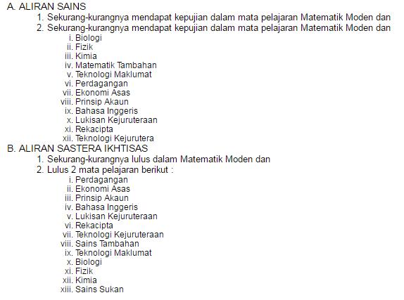 Permohonan Sekolah Sukan Malaysia