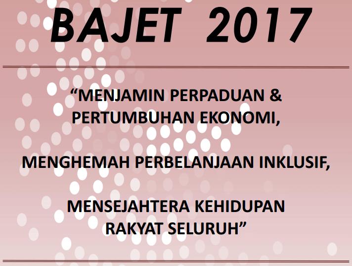 bajet 2017 pendidikan