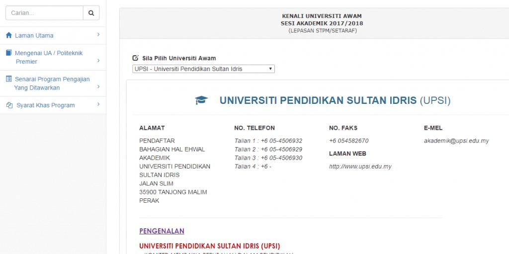 Fungsi Maklumat Universiti
