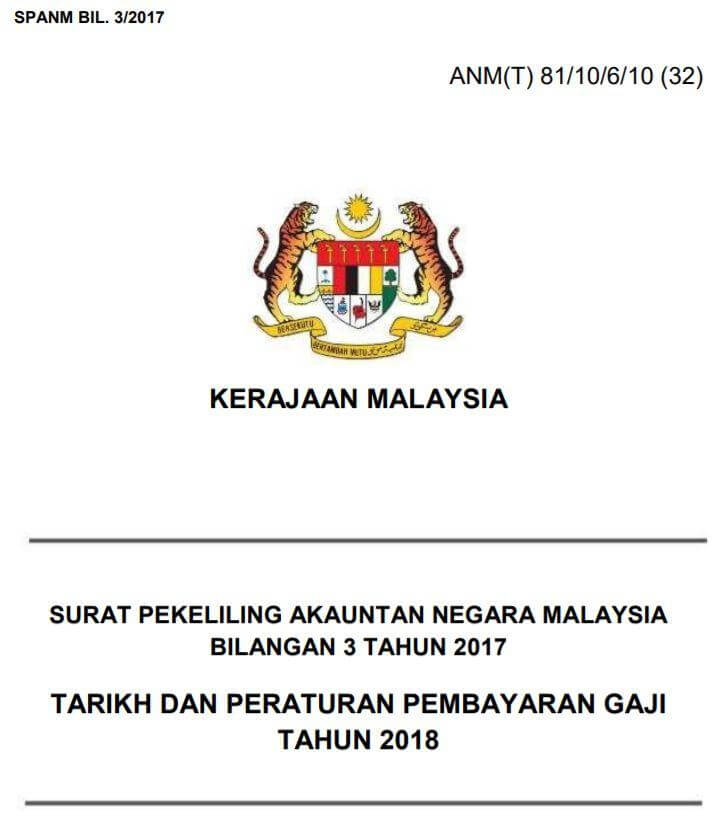 Jadual Gaji 2018