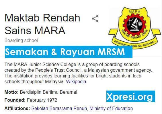 Rayuan MRSM