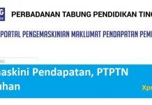 cara kemaskini pendapatan PTPTN