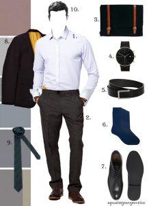 Temuduga Biasiswa ,Pakaian formal bagi lelaki